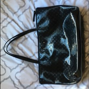 Kate Spade Black Patent Leather Tote